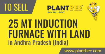 http://www.plantbee.com/sell/743/25-mt-induction-furnace-30-acres-of-land