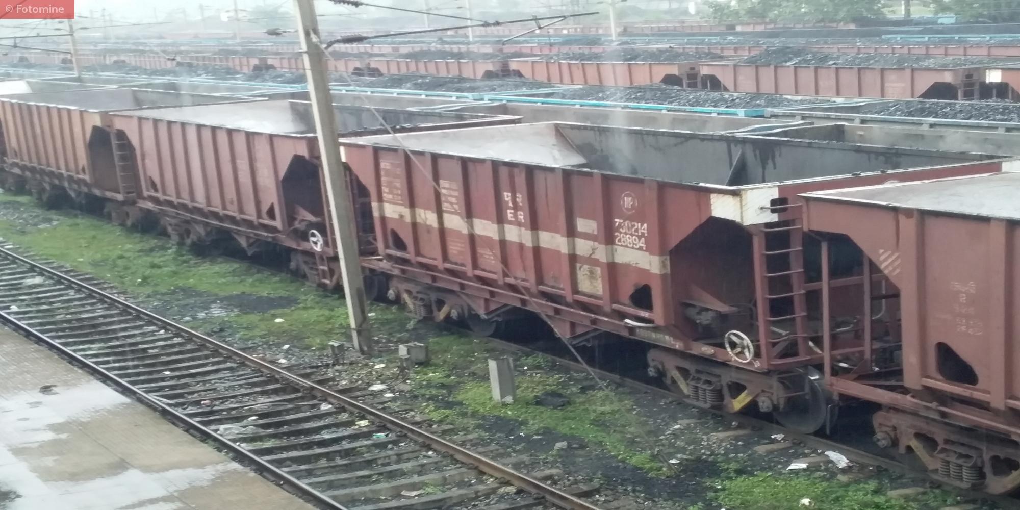 Rake Loading of Coal Near Korba, Chhattisgarh