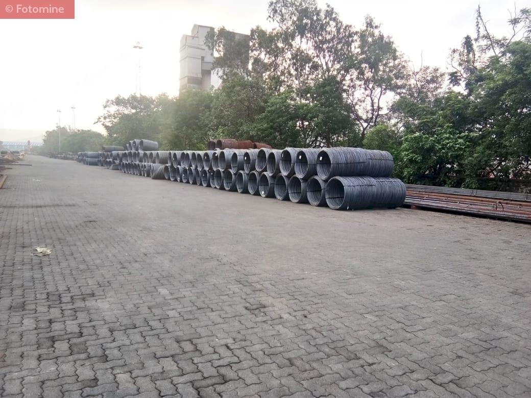 Unloading & Stacking of Wire Rod at RINL Stockyard,Mumbai