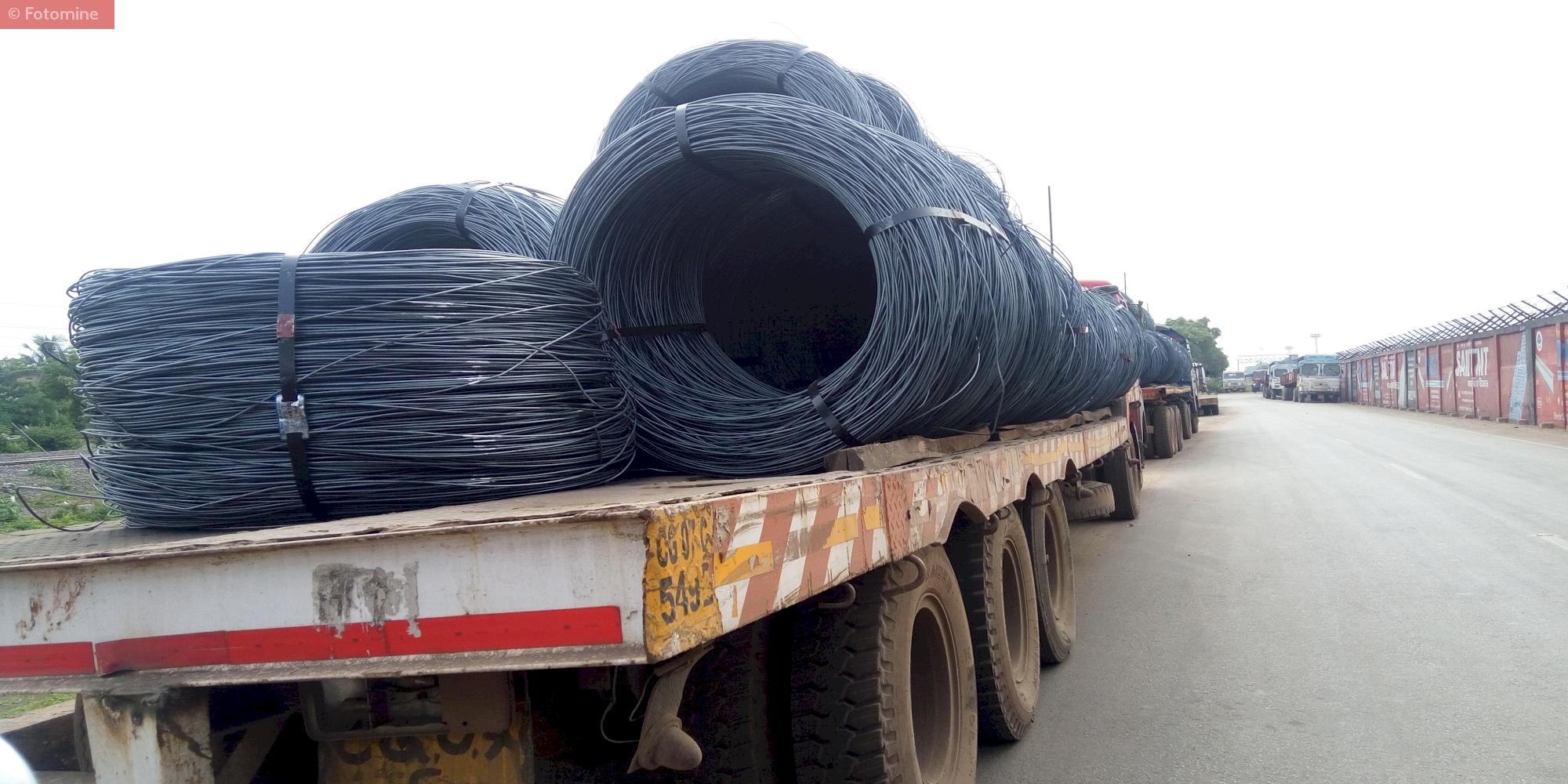 Transportation of Wire Rod from SAIL Bhilai Steel Plant,Chhattisgarh