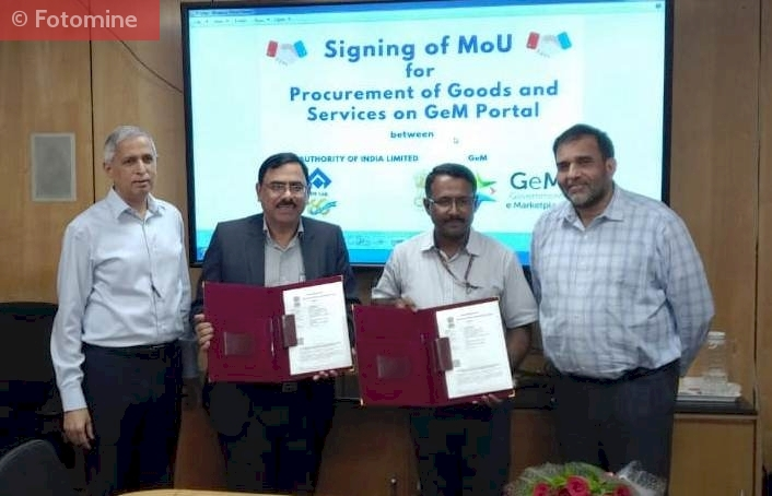SAIL  Becomes First CPSE to Enter into MoU  with GeM on 18 th July, 2019