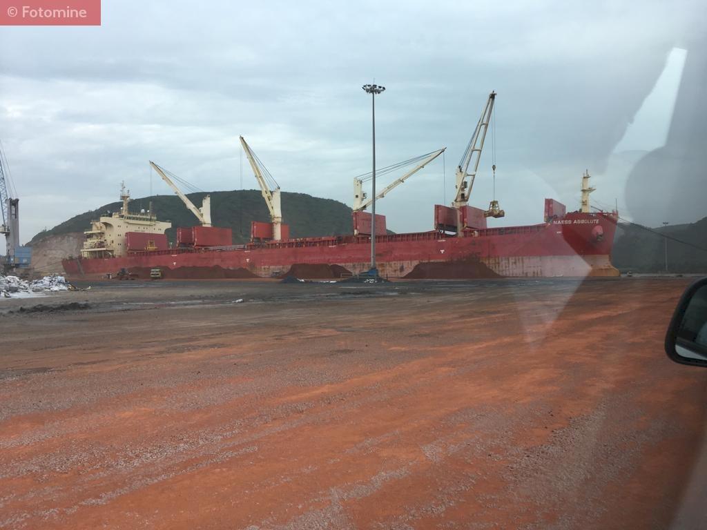 Iron Pellet Stock at Gangavaram port.