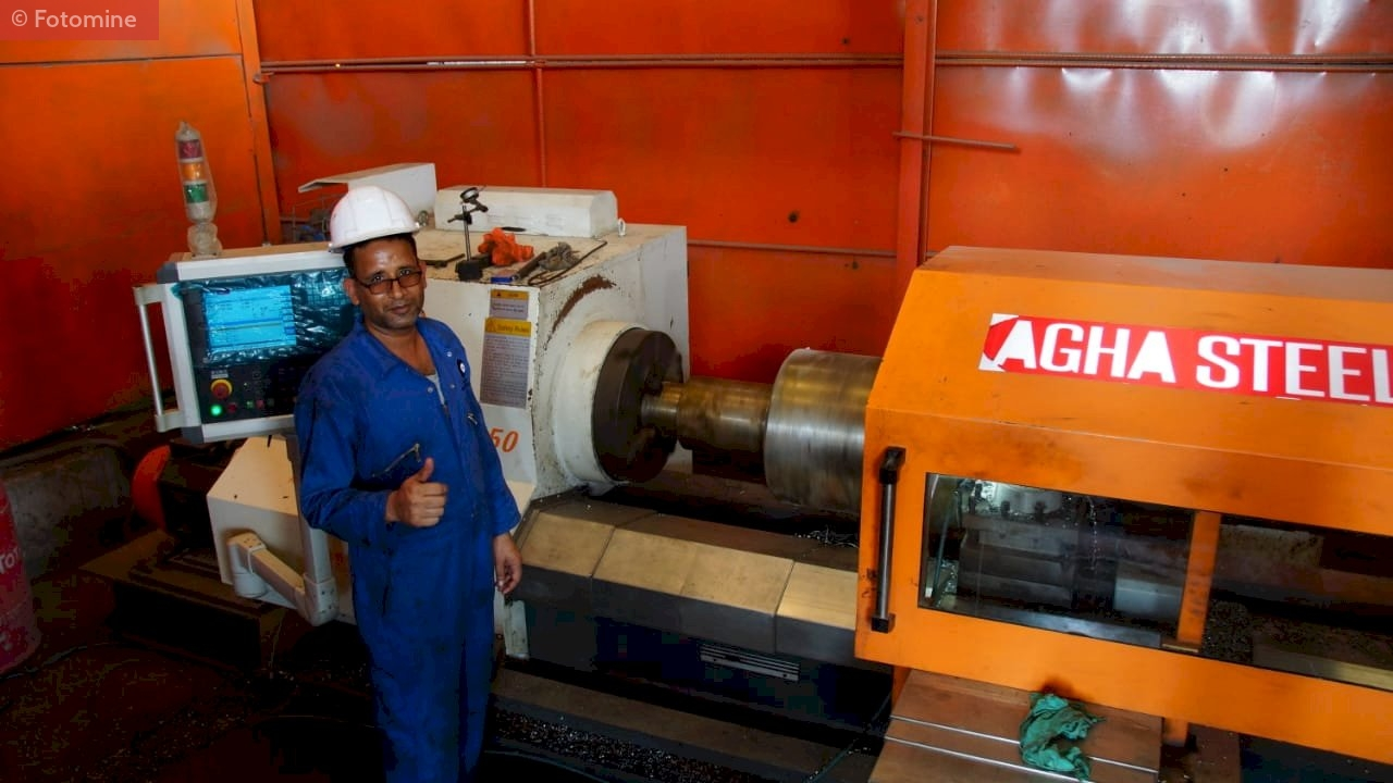 Plant overview of Pakistan's Agha Steel Industries Limited