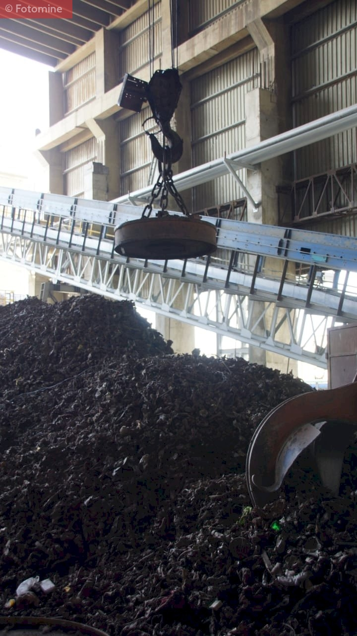 Scrap being processed at Pakistan's Agha Steel