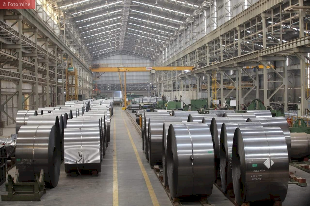 Stockyard of Flat Steel in International Steels Limited, Pakistan