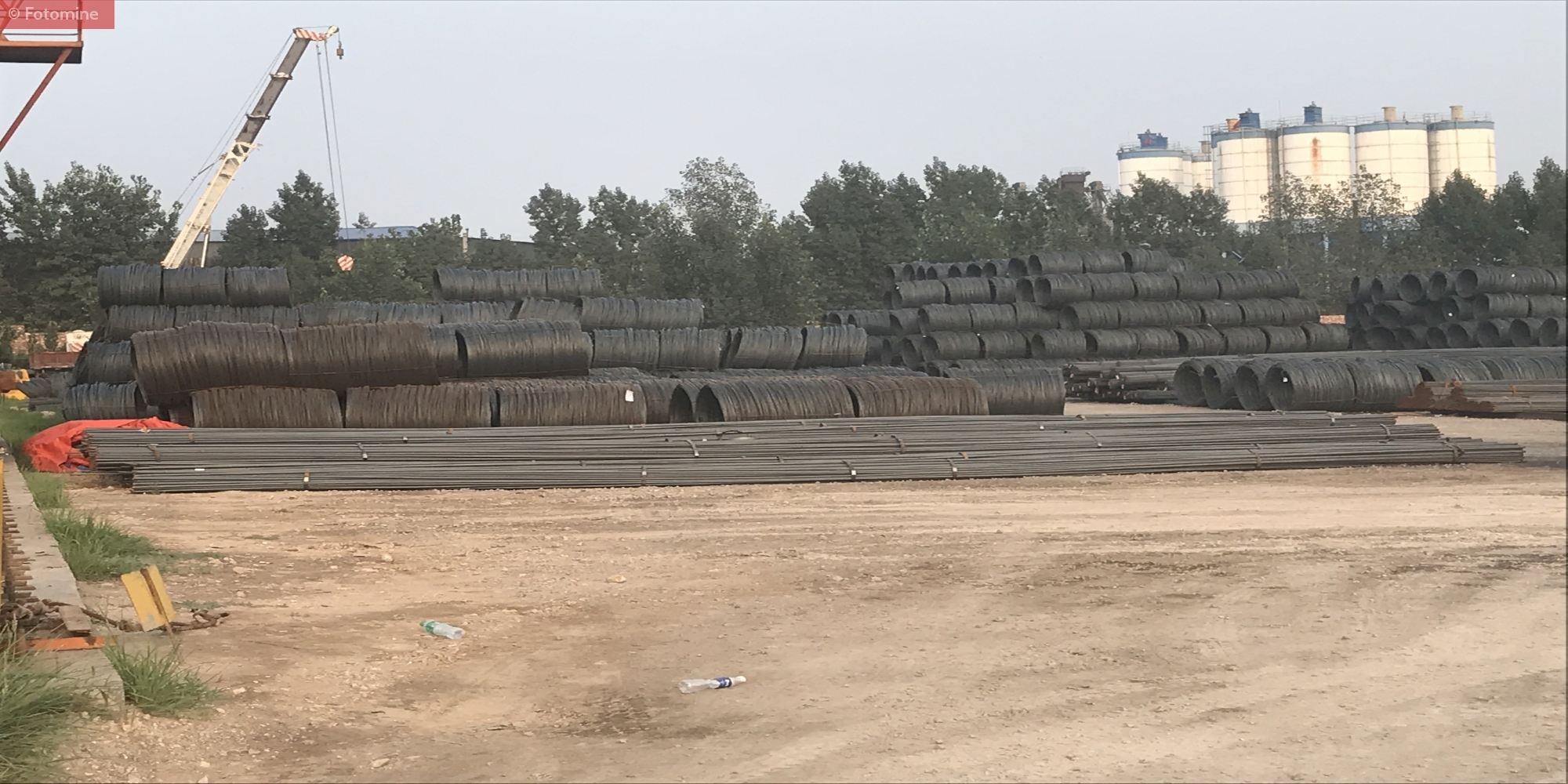 Stockyard of Wire Rod at one of the steel mill in China