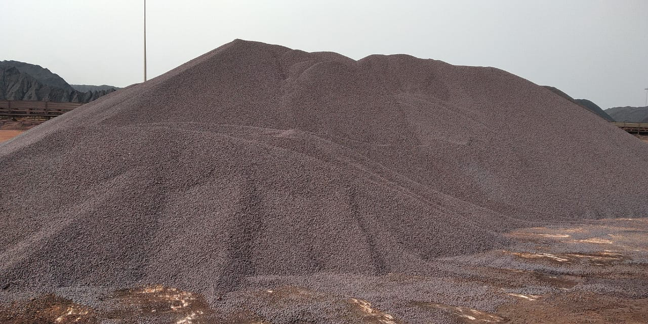 Iron Pellet Stock lying at Gangavaram port (India)